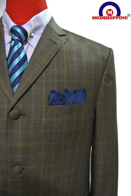DOGTOOTH CHECK SUIT, SADDLE BROWN DOGTOOTH CHECK SUIT | Bookster