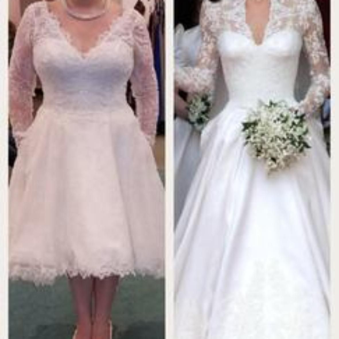 Gorgeous chantilly lace scalloped at the plunging neckline and