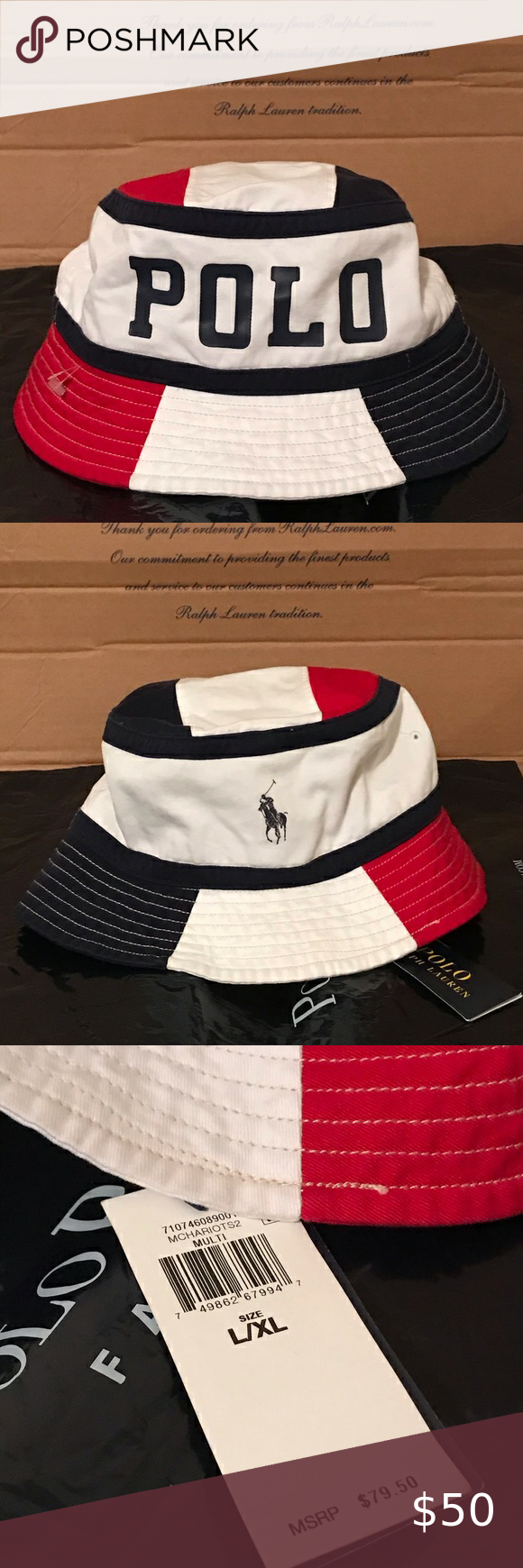 Polo Ralph Lauren Spell Out Bucket Hat Size L Xl Polo Ralph Lauren Hat Sizes Ralph Lauren