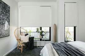Black Window Frames With Roller Blinds Roller Blinds Bedroom