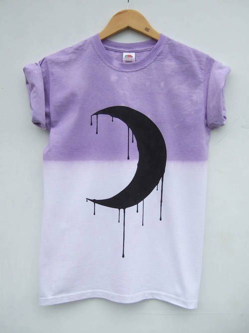 e63f2ace6820e Dripping Moon Phase Pastel Goth Shirt Purple Dip Dye Tumblr Grunge ...