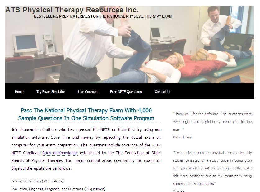 Pass The National Physical Therapy Exam With 4,000 Sample - sample physical therapy evaluation