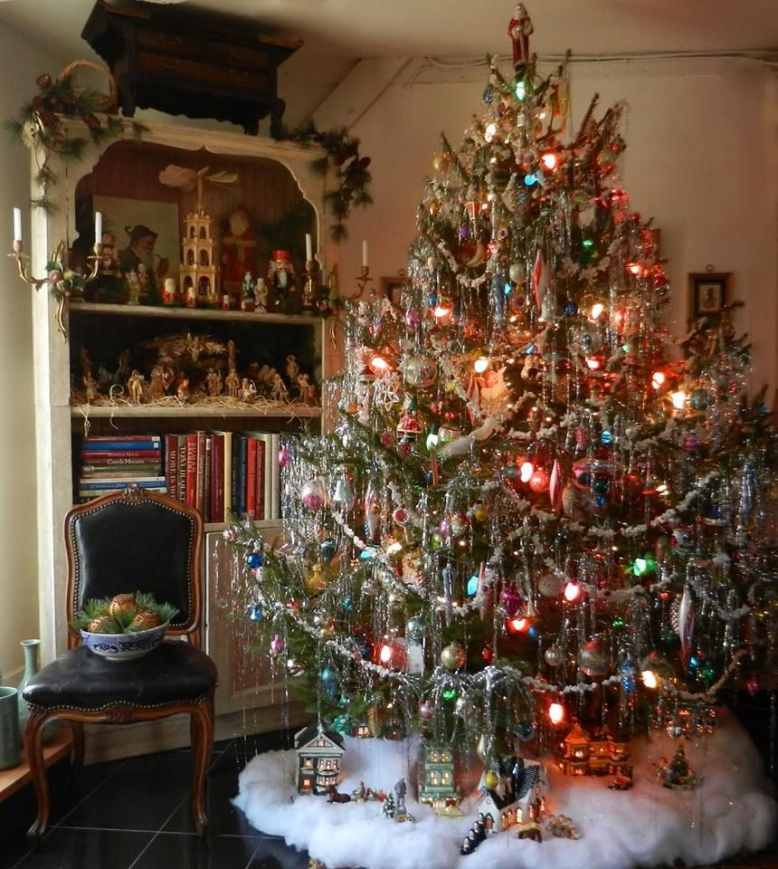 old fashioned christmas treeabsolute perfection wow reminds me of the ones we had at home when i was growing up