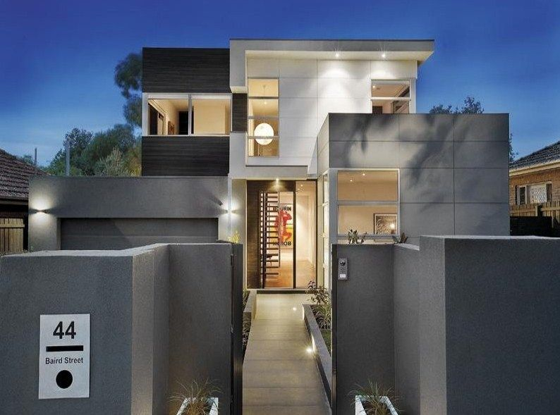 fachadas de casas modernas en tonos grises pintura fachada On fachada exterior pintura antracita gris