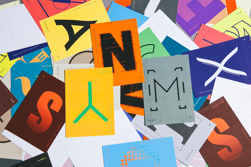 Awarded at Turkish Society of Graphic Designers, Glossary of Design Terms is a series of design letter ...