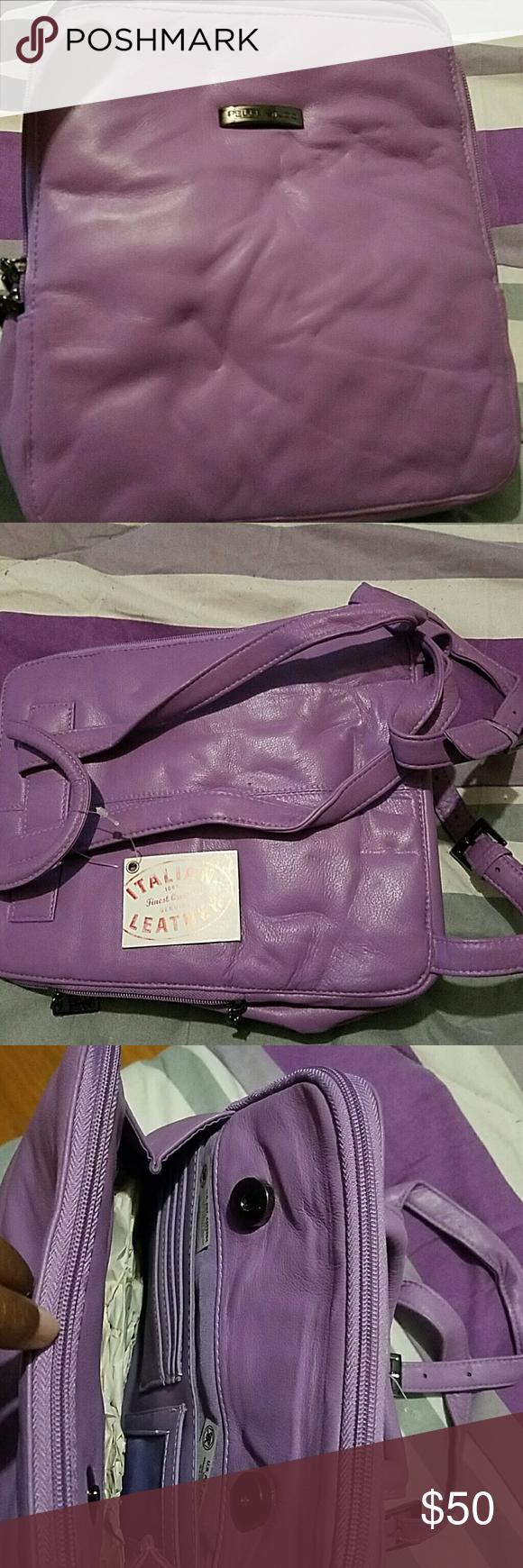 Pelle studios Lavender (wilson leather) backpack NWT