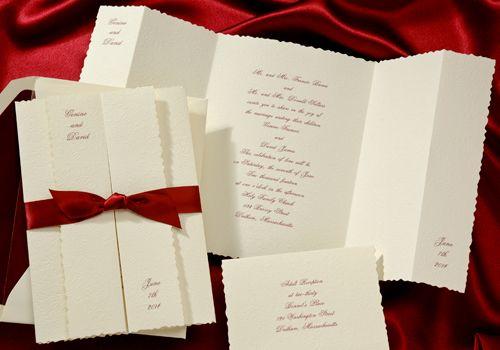 Ribbon Wedding Invitations by Lunar Ink