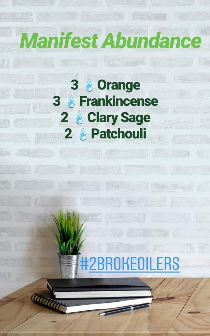 Manifest Abundance Diffuser Blend Keepinitoily With 2brokeoilers Young Li Essential Oil Diffuser Recipes Abundance Essential Oil Essential Oil Blends Recipes #spa #essentials #true #living #room #spray