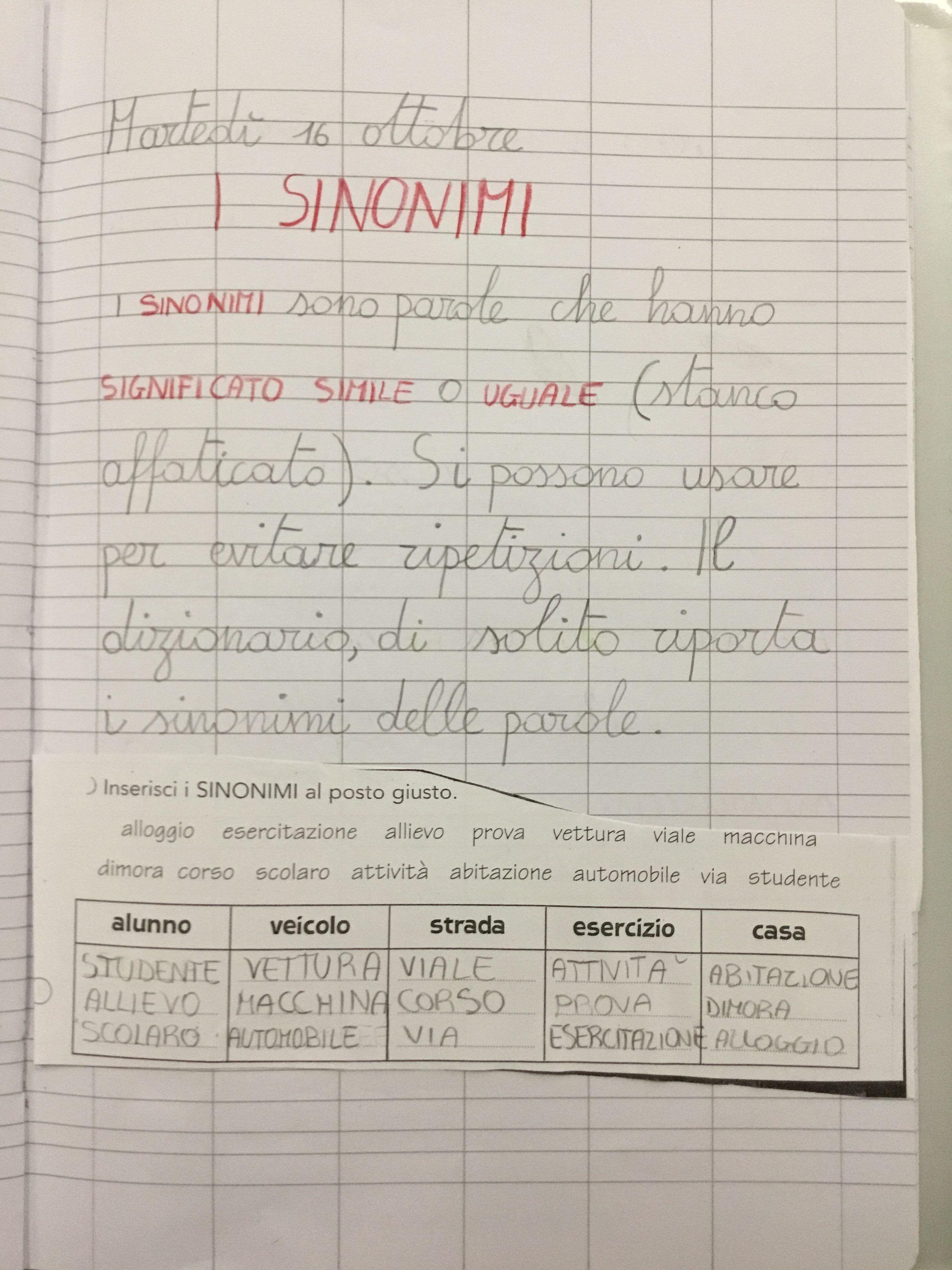 Sinonimi E Contrari Scuola Montessori