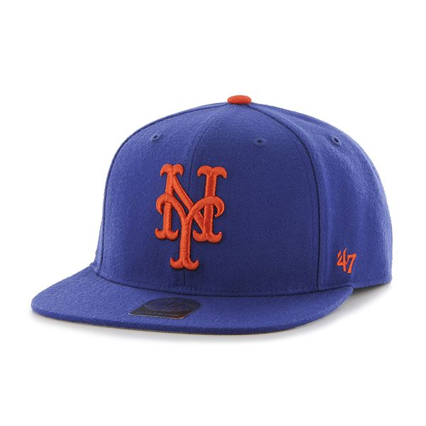 huge discount b6ccc 4cfe7 New York Mets No Shot Captain Royal 47 Brand YOUTH Hat