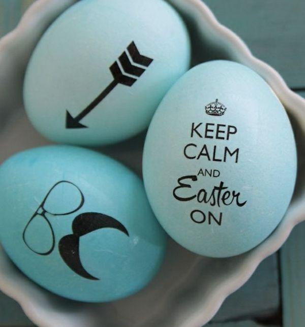 bemalte ostereier gestalten osterdeko bastelideen schnurrbart 101 eastern eggs eastern. Black Bedroom Furniture Sets. Home Design Ideas