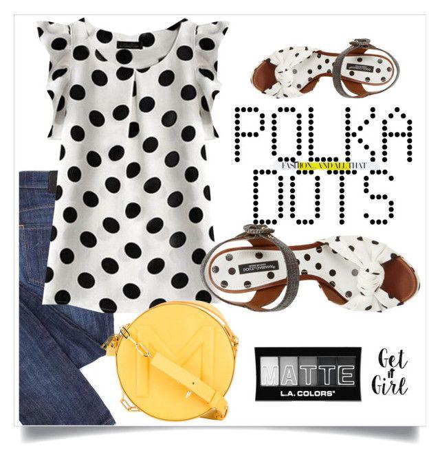"""Polka - W&B"" by drerak ❤ liked on Polyvore featuring Dolce&Gabbana, Thierry Mugler, Chanel, Cricut, L.A. Colors, PolkaDots, MyStyle, fashionset, Fashiondesigners and drerak"