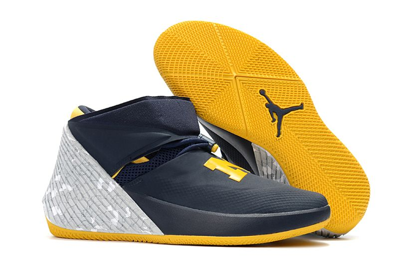 "Jordan Why Not Zer0.1 ""Michigan"" College Navy Amarillo-White AA2510-405  Release Dates 2018 ce8920395"