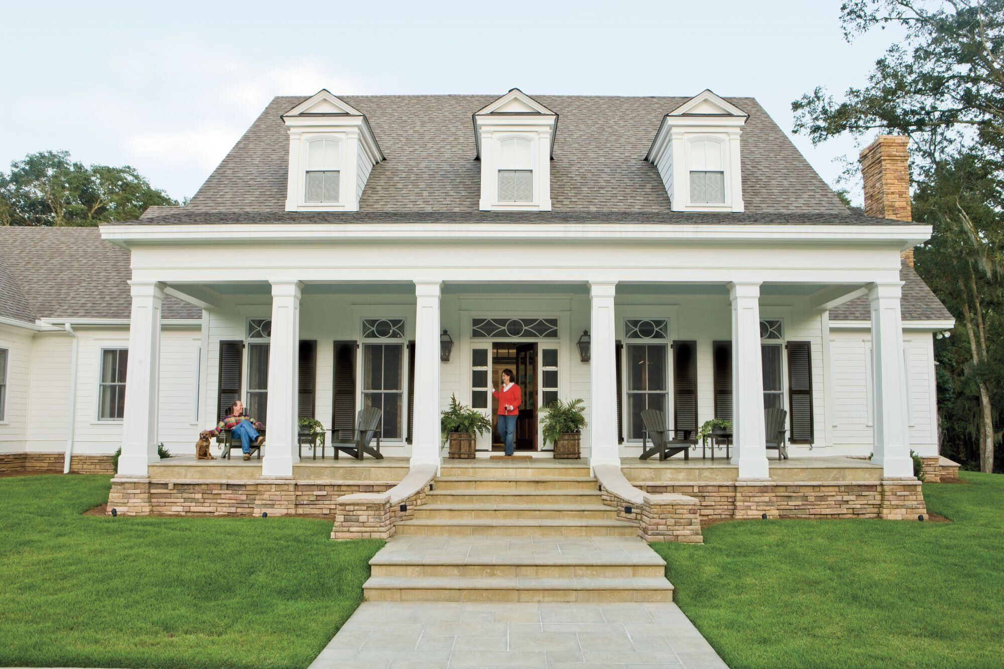 New House Timeless Character House With Porch Southern House Plans Farmhouse Style House