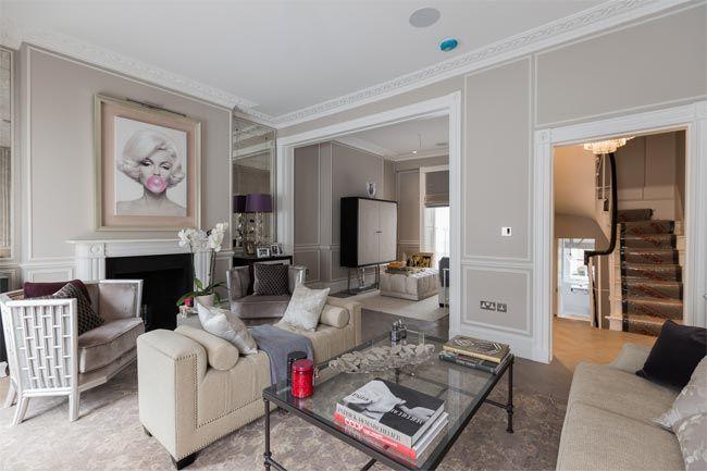 Sal n color topo y blanco despachos oficinas pinterest beige lujos y londres for Amueblar despacho casa