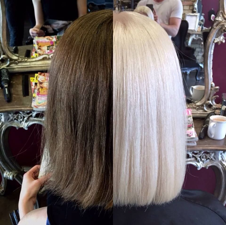 I Used Olaplex With Redken S Flashlift Lightener 30 Vol For Zones 2 3 Mid Lengths And Ends And 20 Colored Hair Tips Hair Color Formulas Redken Hair Color