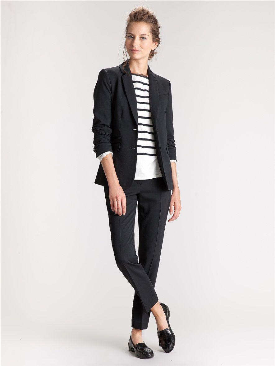 veste blazer femme mariniere les vestes la mode sont populaires partout dans le monde. Black Bedroom Furniture Sets. Home Design Ideas