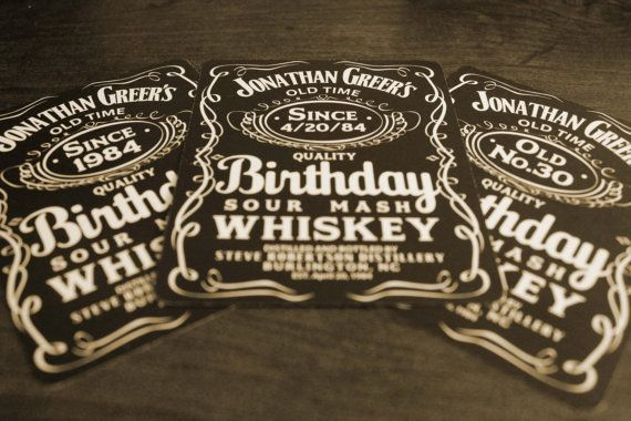 Say Happy Birthday With Personalized Whisky Bottle Labels