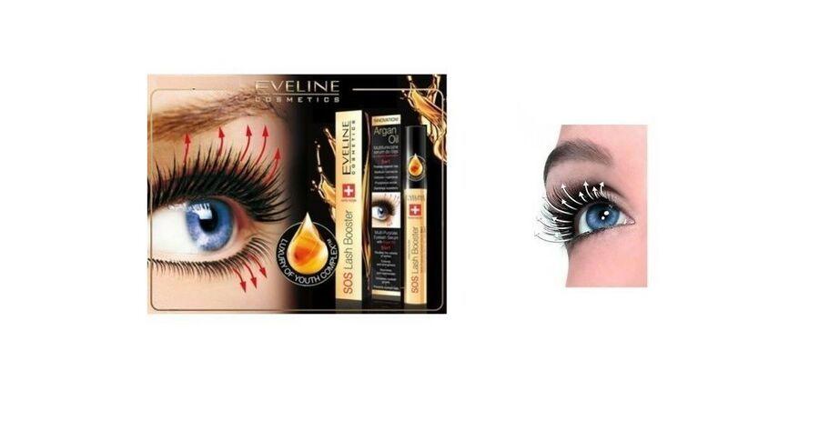 0dfa858e80c Eveline Effective SOS Lash Booster Multi-Purpose Eyelash Serum 5 in 1 Argan  Oil #