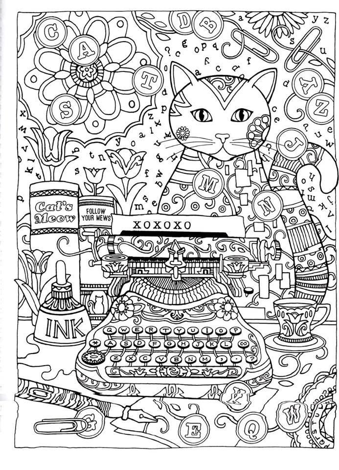 creative cats coloring book page dover | Раскраски / Art therapy ...