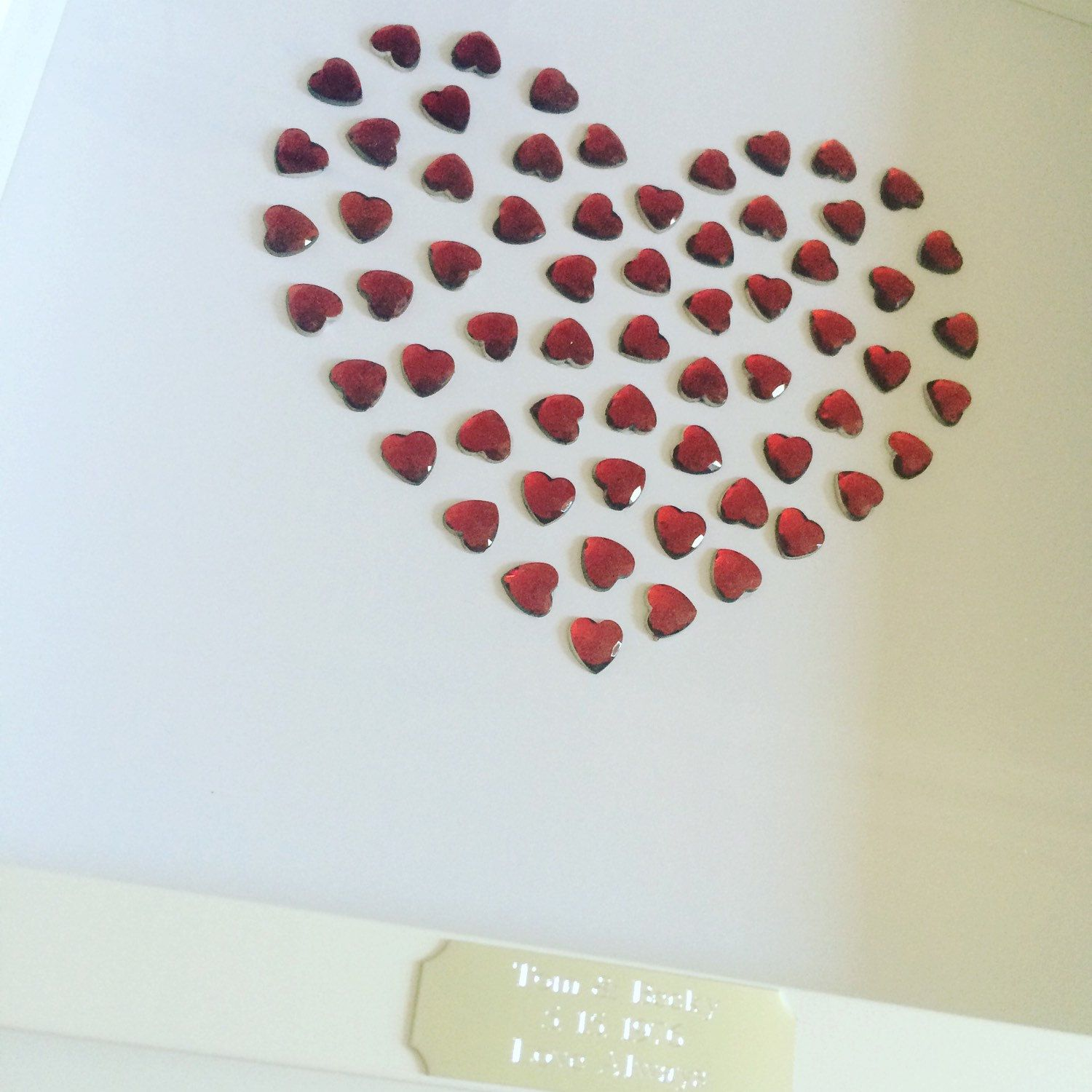 Framed Personalised Ruby Heart - 40th Wedding Anniversary Gift ...