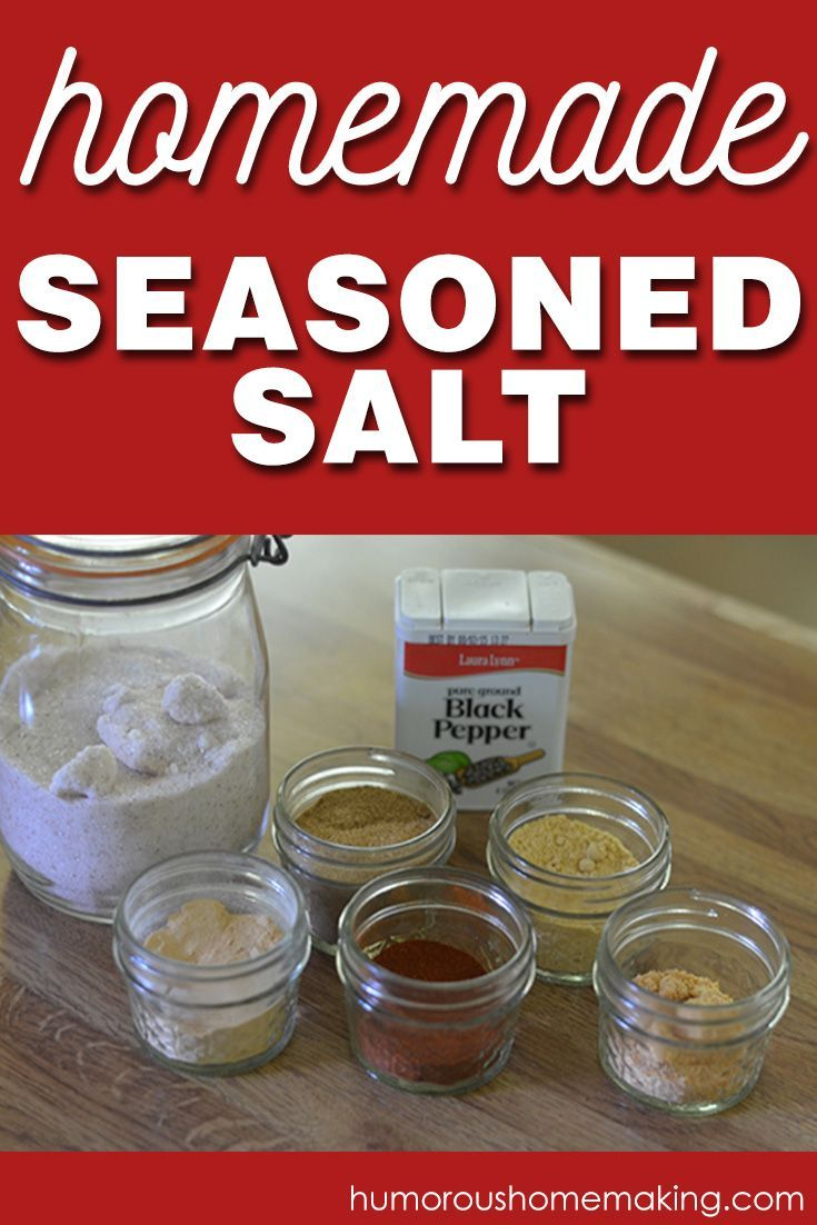 Homemade Seasoned Salt - Humorous Homemaking