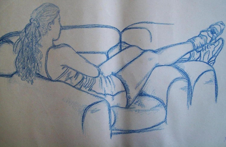 Desenhos a lápis da época da faculdade.
