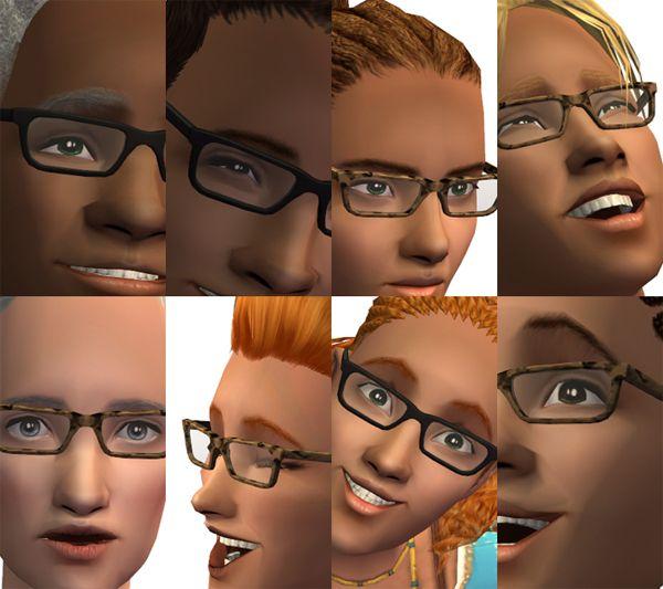 Mod The Sims - Tamo's Mock Mod Glasses Conversion