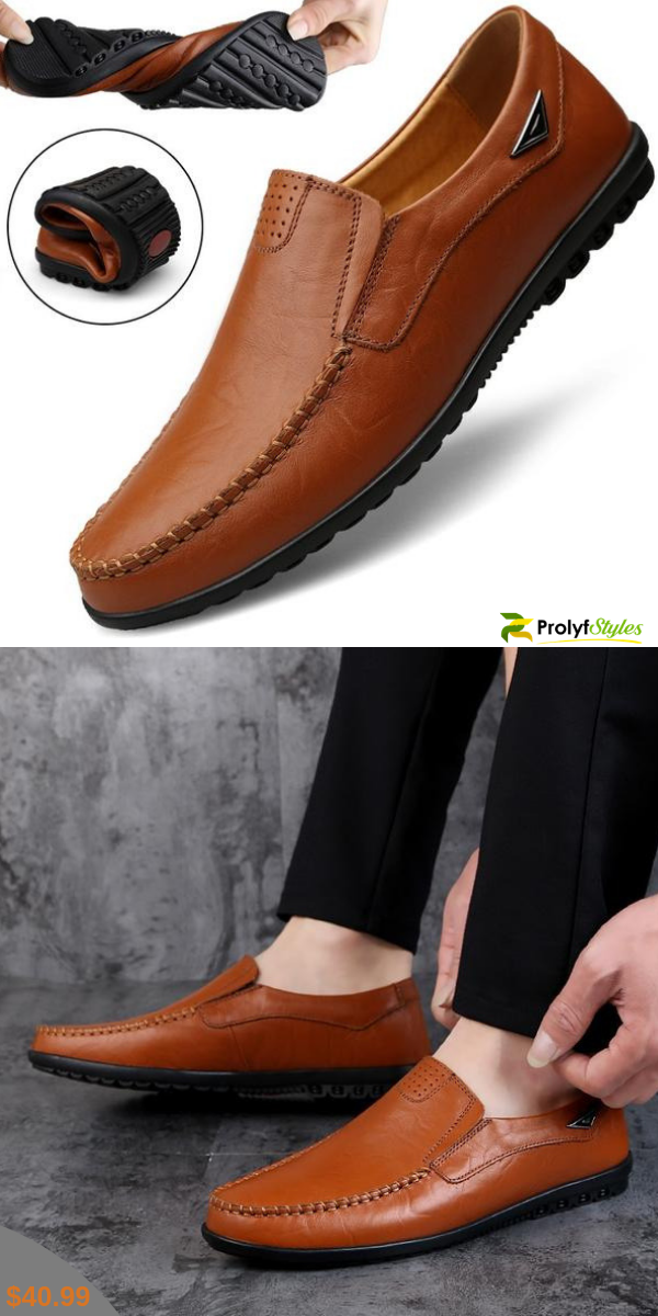crazy-shop Men Shoes Casual Slip On Loafers Men Moccasins Genuine Leather Black Blue Male Driving Shoes