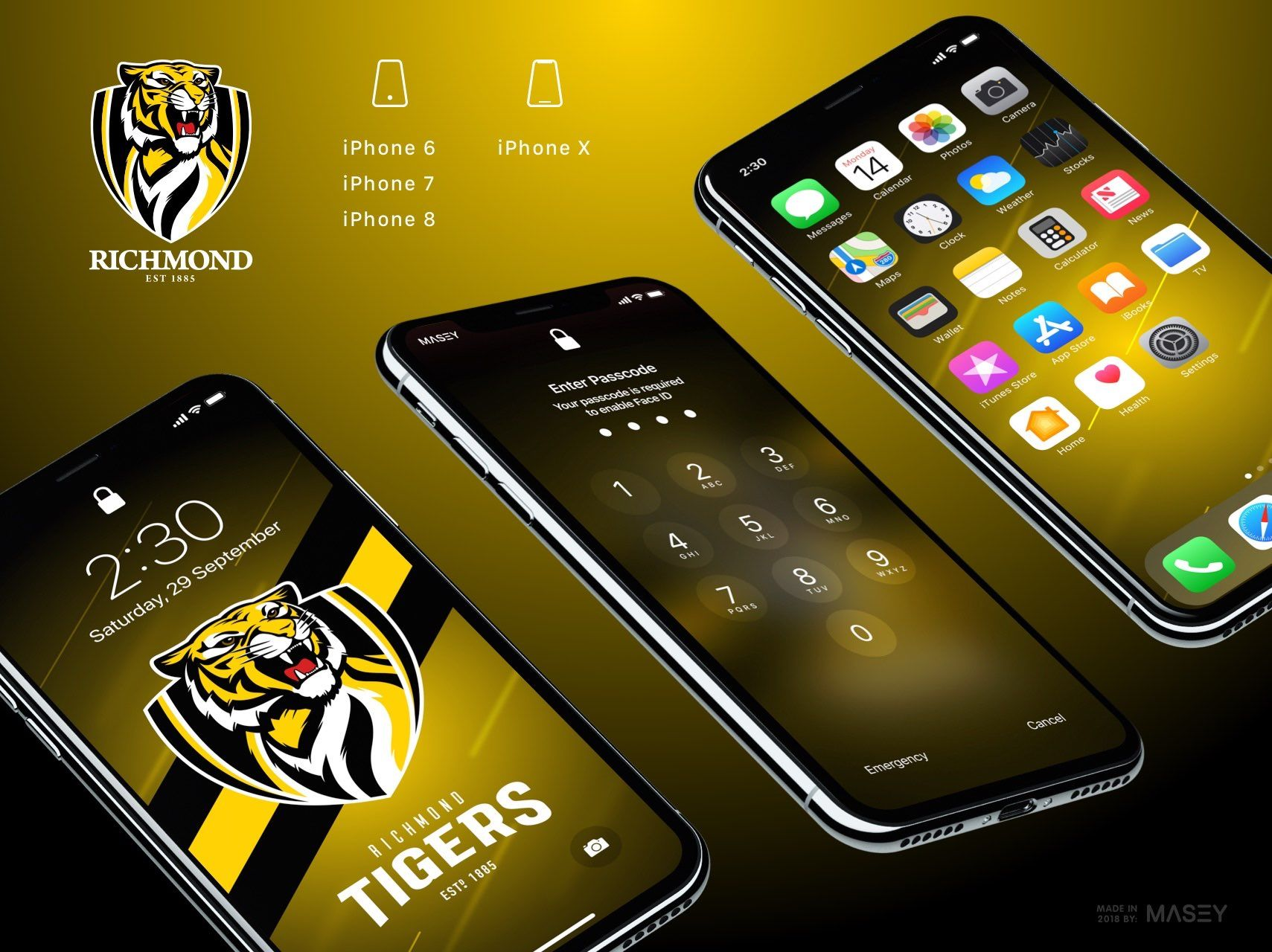 Richmond Tigers Iphone Wallpaper Richmond Afl Afl Iphone Wallpaper
