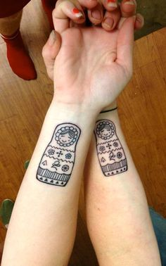 simple matryoshka doll tattoo google search tattoo inspiration pinterest doll tattoo. Black Bedroom Furniture Sets. Home Design Ideas