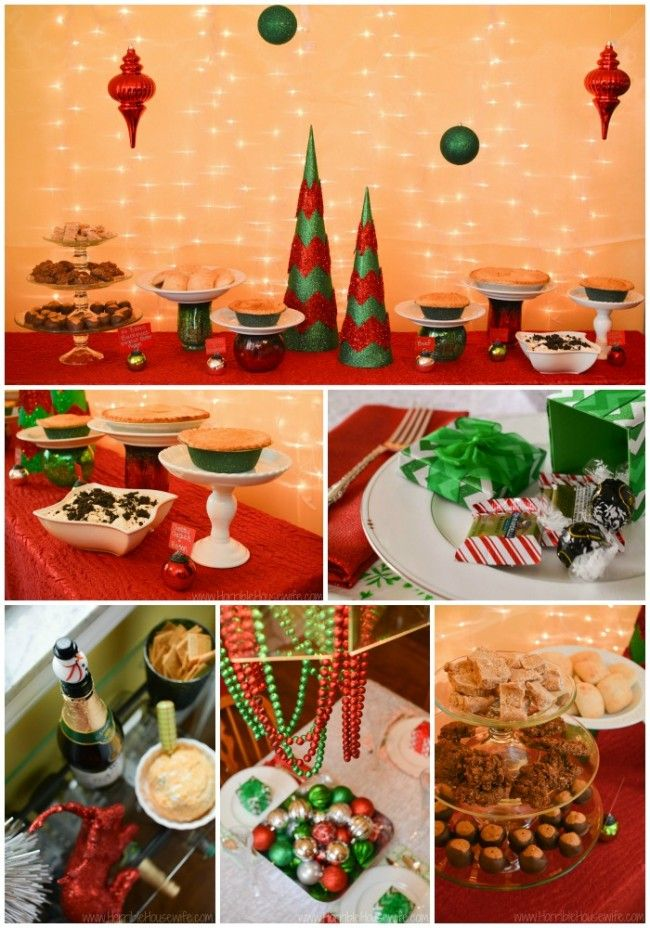 Christmas Party Ideas Easy Food Peanut Butter Desserts And Simple Decorations In