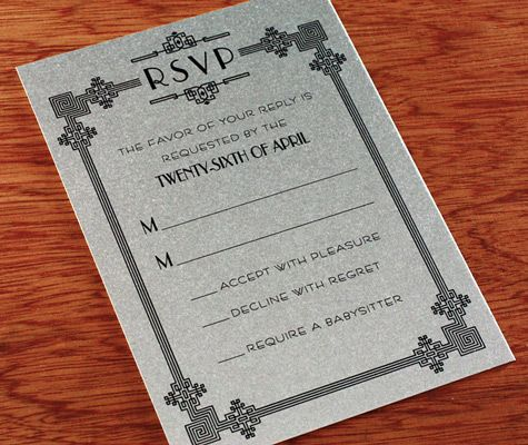 Wedding Invitation Wording Is Set In Fonts Reminiscent Of
