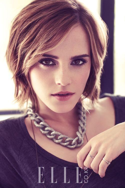 Emma Watson Elle Korea March 2013 Toc Cực Ngắn Kiểu Cắt Toc Kiểu Toc Ngắn