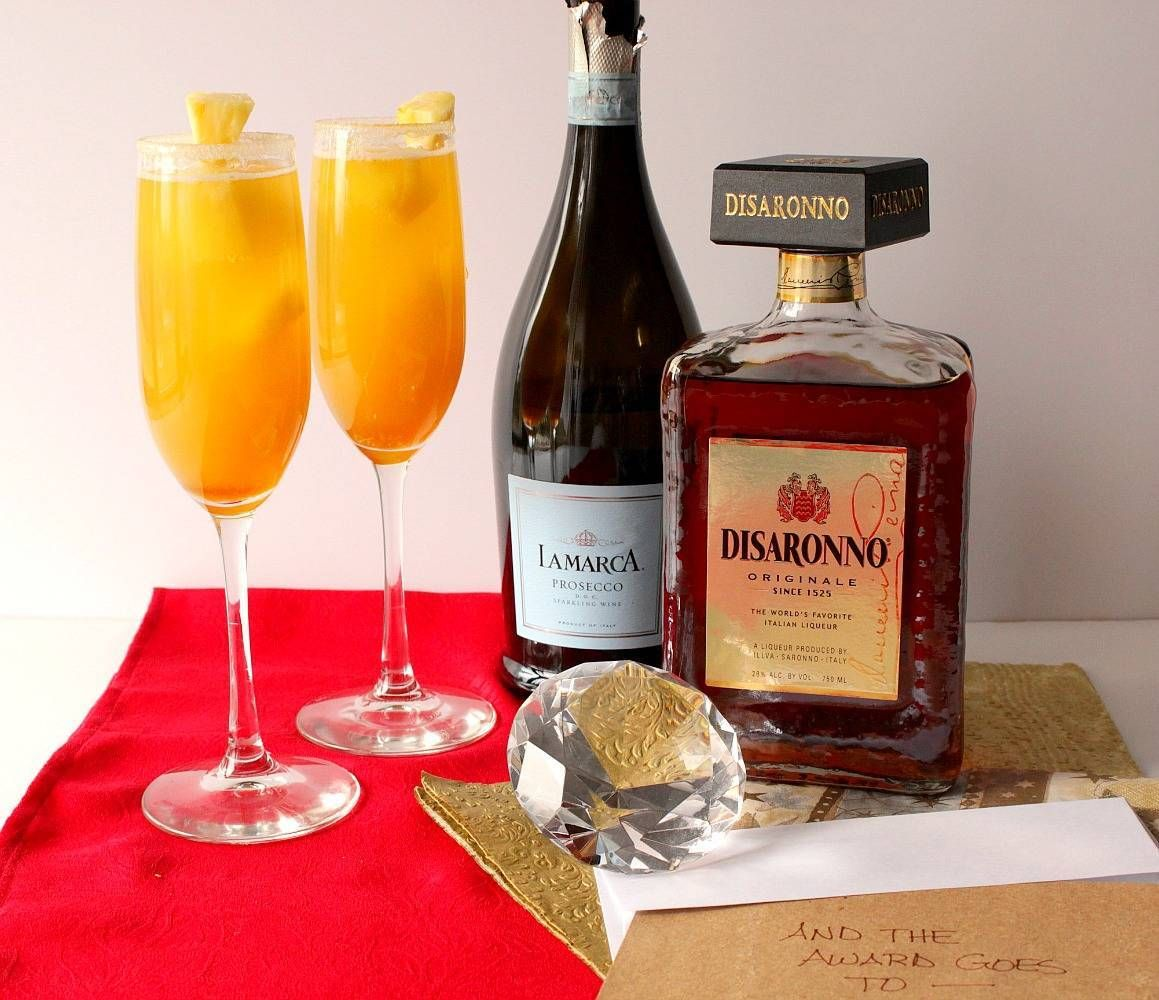 Prosecco Cocktail For The Academy Awards Prosecco Cocktails Prosecco Disaronno Cocktails