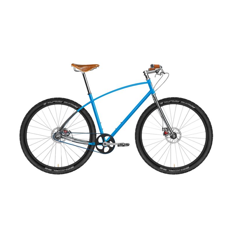 Budnitz Bicycles No 3 Titanium In India Blue With Brooks Honey