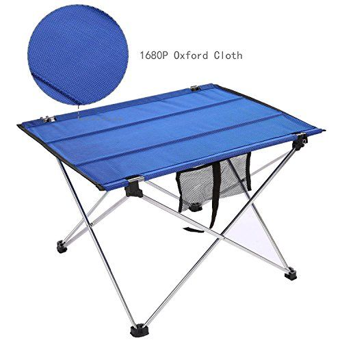 Leoneva Portable Folding Camping Table With Carrying Bag, Adjustable Height Picnic  Table For Outdoor U0026