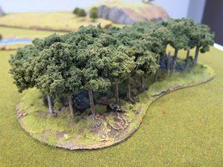 Miniature Tree tufts Vegetation Groups for Military Model