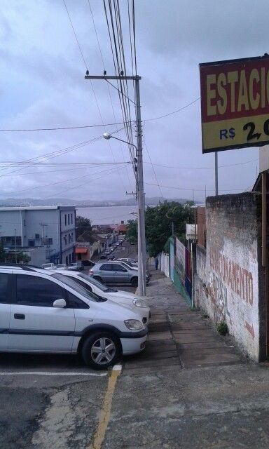 Centro de Guaíba vista da rua do Banco do Brasil