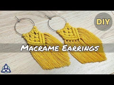 DIY | Most POPULAR Macrame Earrings on INSTAGRAM | Macrame Jewelry - YouTube