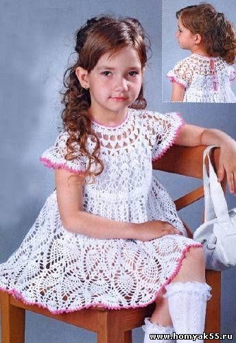 Платья Девочек 5 Лет Крючок Схемы