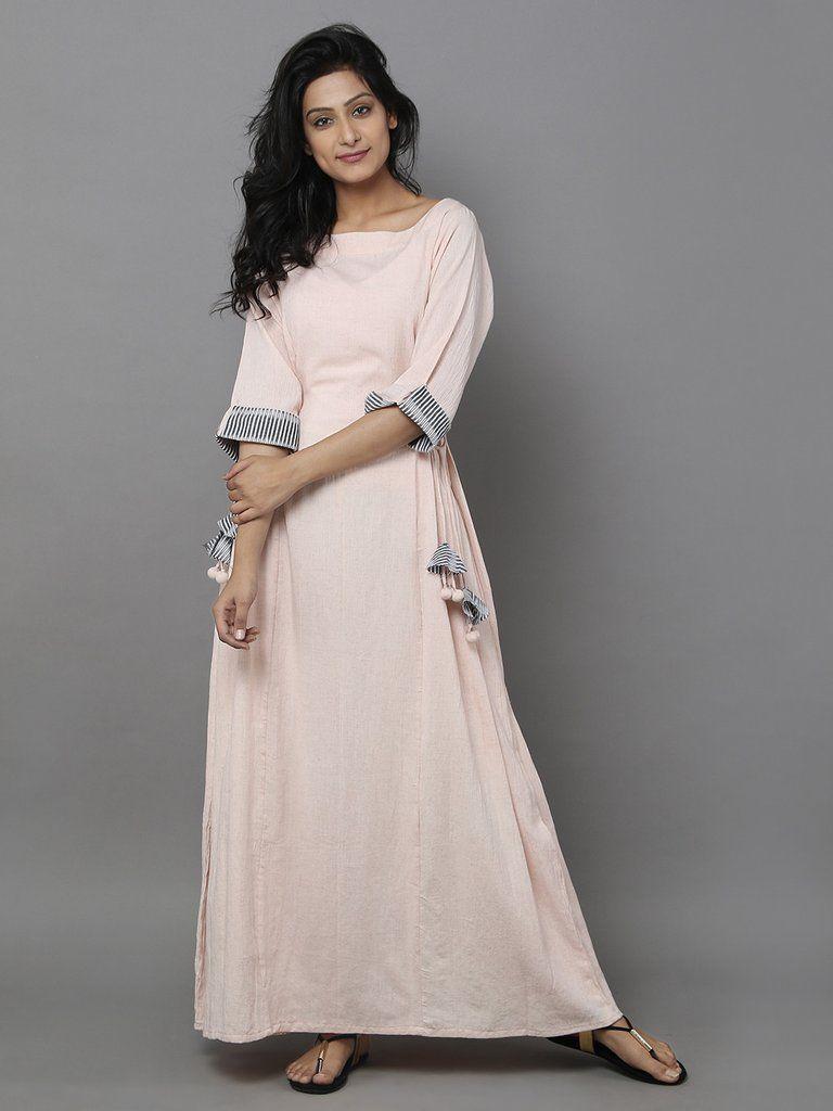 Dull pink cotton long dress tops in pinterest dresses
