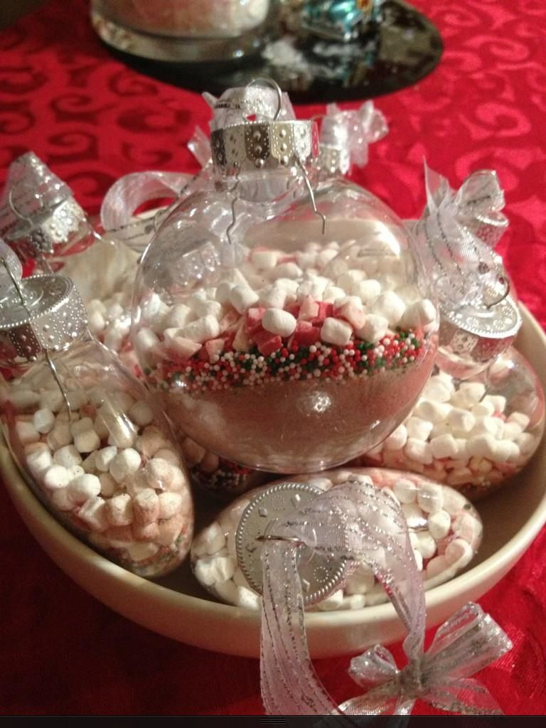 Christmas Party Ideas Pinterest Part - 31: Gifts For My Christmas Party Guests. Hot Cocoa Ornaments--thank You  Pinterest!
