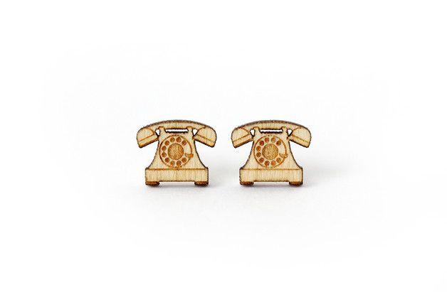 Puces d'oreilles, Puces d'oreilles Téléphone vint - hypoallergénique est une création orginale de Lesfollesmarquises sur DaWanda