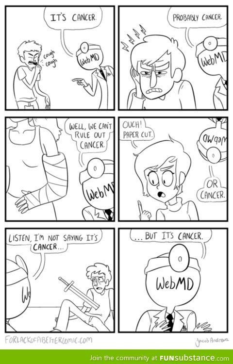 It Actually Always Tells Me I Have Meningitis But Yes Fun Comics Best Funny Pictures Laugh