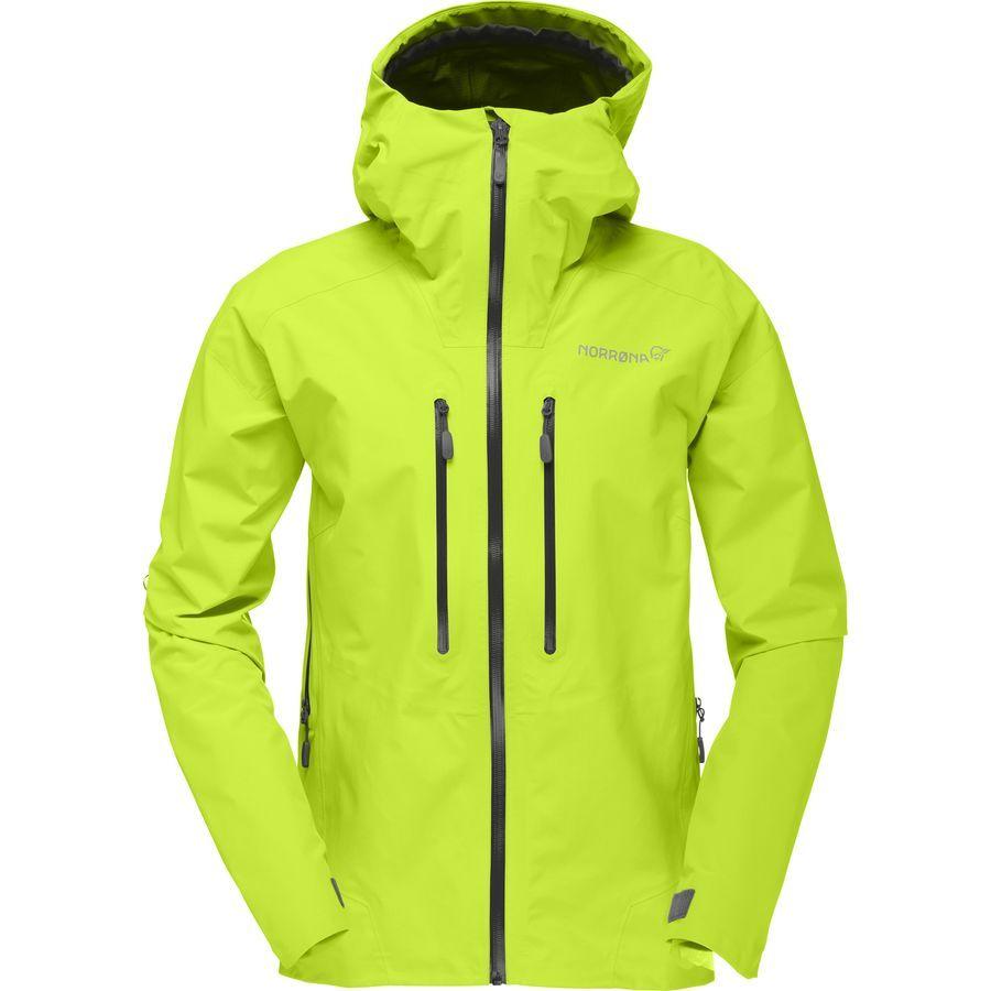 Norrona Trollveggen Gore Tex Light Pro Jacket Women S Birch Green Mens Jackets Jackets Hooded Jacket Men