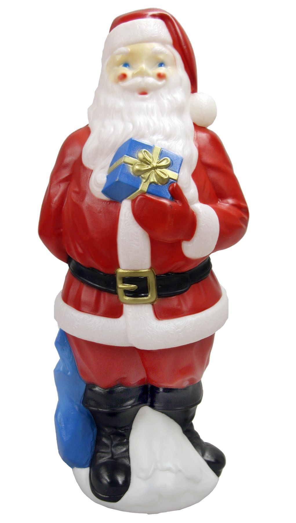 Lighted christmas santa blow mold 34 in kmart