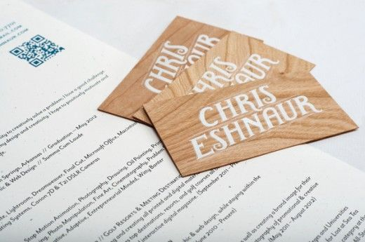 Wooden Business Cards + Resume | Design Ideas | Pinterest | Business ...