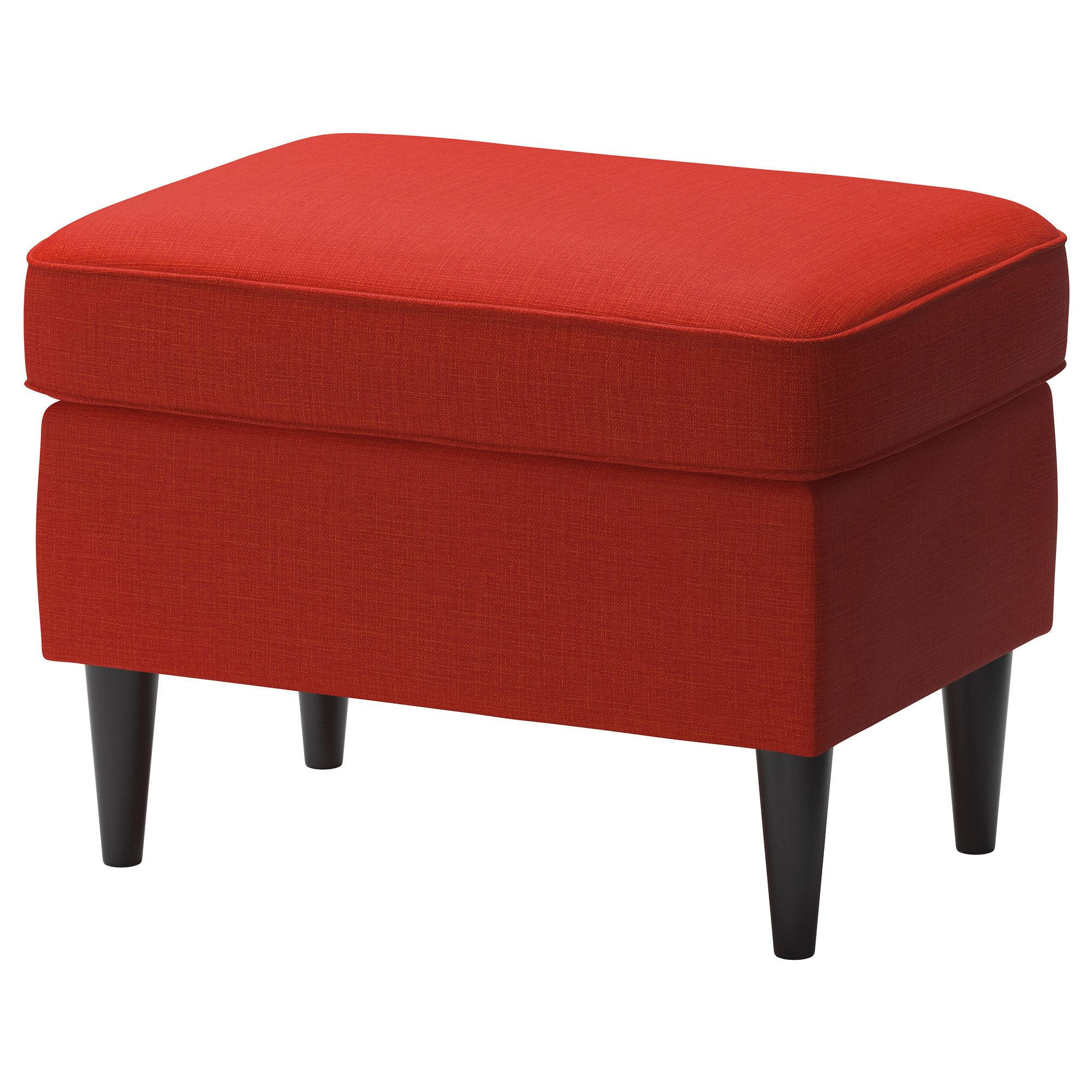 STRANDMON Footstool Skiftebo orange IKEA AAK