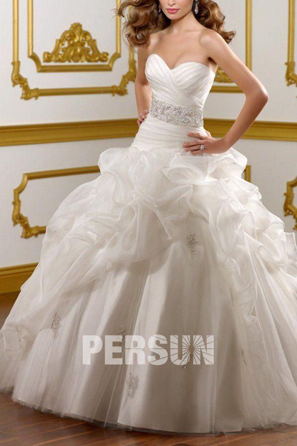Ball organz wedding dress